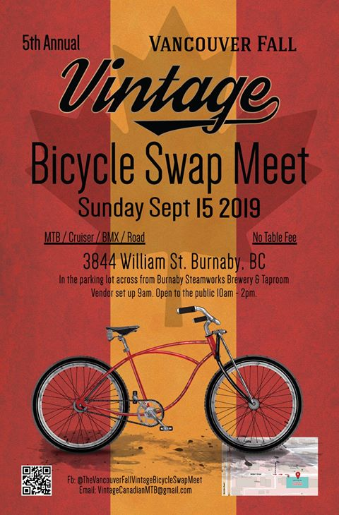 5th Annual Vancouver Fall Vintage Bicycle Swap Meet